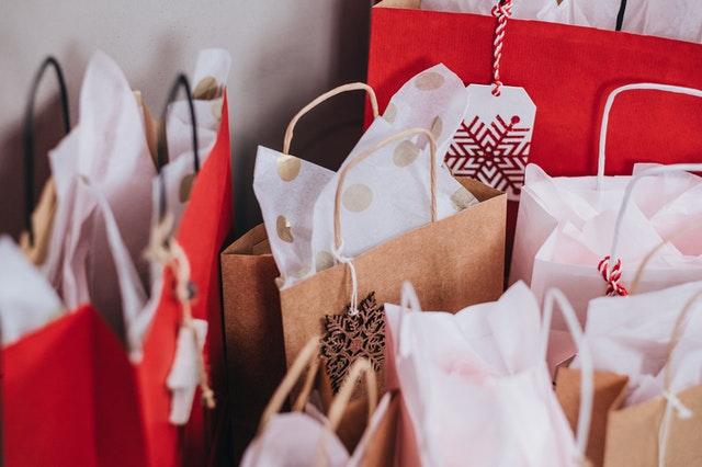 christmas present gift bags