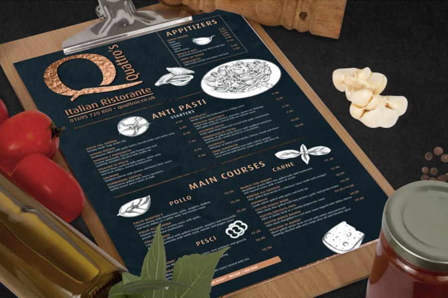 restaurant antibacterial menus